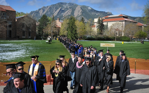 University of Colorado at Boulder graduation ceremonies
