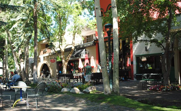Pedestrian mall in downtown Aspen