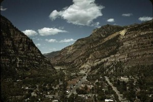 Ouray surrounded by mountains