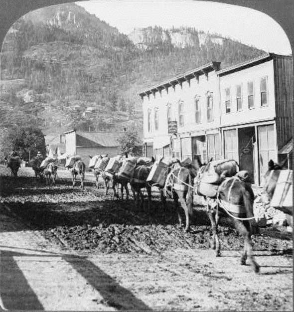 Pack train leaves Ouray with supplies for mines