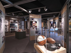 Sports Hall of Fame Museum interior shot