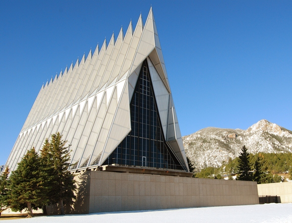 U.S. Air Force Academy chapel near Colorado Springs