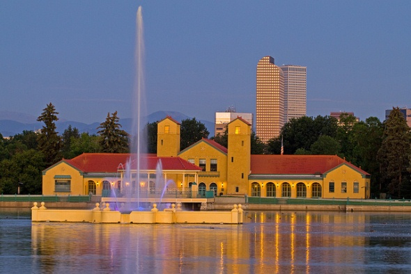 City Park Pavilion, Ferril Lake and the Prismatic Electric Fountain