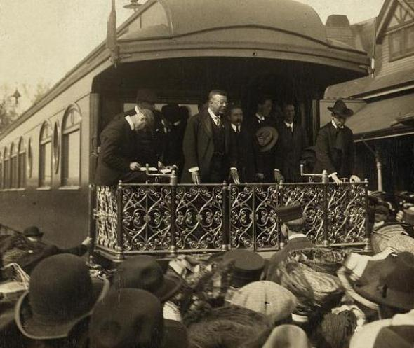 President Theodore Roosevelt visits Colorado Springs