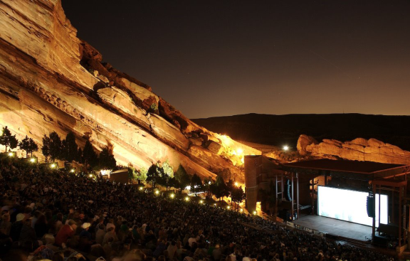 Red Rocks Amphitheater west of Denver