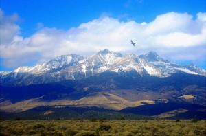 Spanish Peaks in southern Colorado
