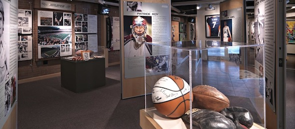 interior view of Colorado Sports Hall of Fame