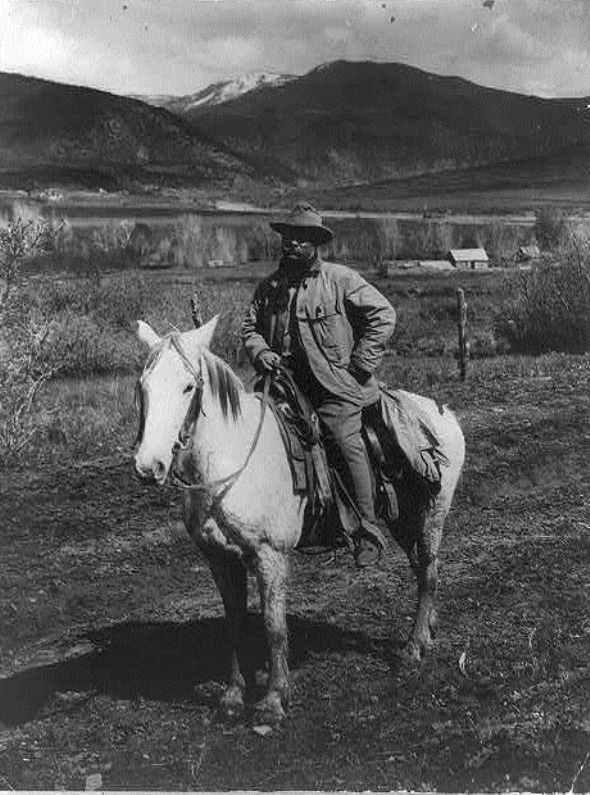 President Theodore Roosevelt near Glenwood Springs