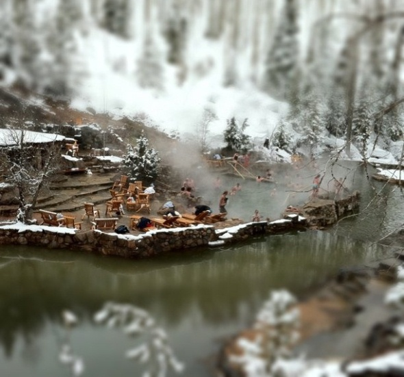 Strawberry Park Hot Springs near Steamboat Springs