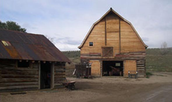 The farm's original barn is part of the Wyman collection. | Wyman Living History Museum