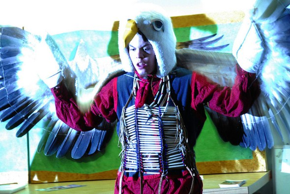 Koshare eagle dancer from La Junta Colorado