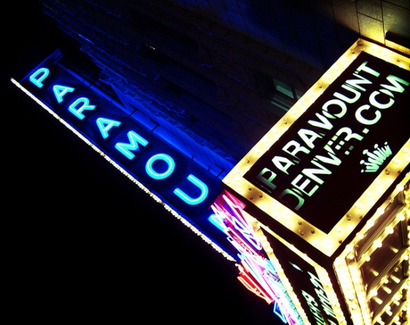 Historic art deco-style Paramount Theater in Denver