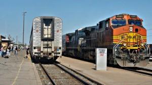 Southwest Chief train at La Junta Colorado