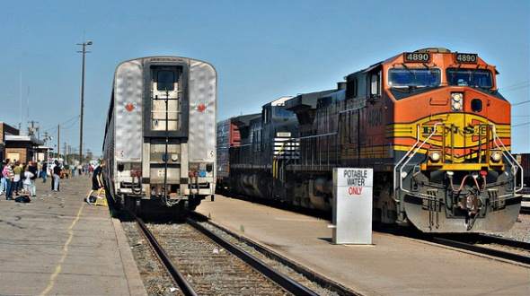 Southwest Chief train at La Junta Colorado