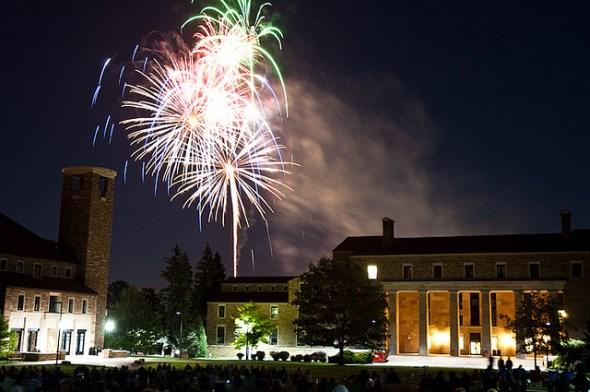 Boulder Colorado fireworks