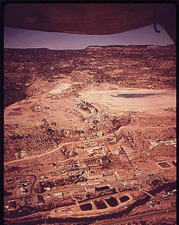 Uravan uranium mill in 1972 photo