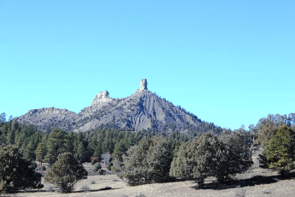 Chimney Rock (right) and Companion Rock are part of the new national monument. | Photo by Jeffrey Beall / flickr.com