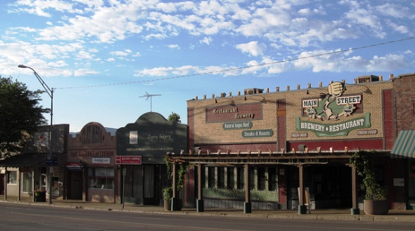 Buildings lining the Cortez Main Street date from the late 1800s. | Photo by Doug Kerr / flickr.com